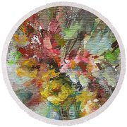 Grace And Beauty Round Beach Towel