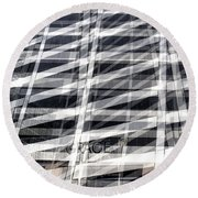 Grace Building Collage 2 Round Beach Towel