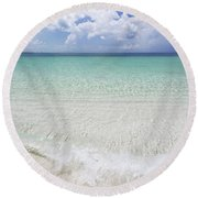 Round Beach Towel featuring the photograph Grace by Chad Dutson