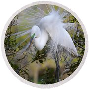 Grace In Nature Round Beach Towel
