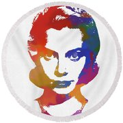 Grace Kelly Watercolor Round Beach Towel