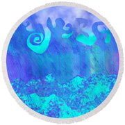 Grace Of Rain Round Beach Towel