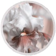 Round Beach Towel featuring the photograph Graceful Dream by Jenny Rainbow