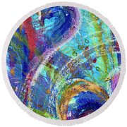 Graceful Hearts Round Beach Towel