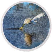 Round Beach Towel featuring the photograph Graceful Hunter 2 by John M Bailey