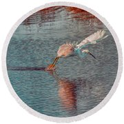 Round Beach Towel featuring the photograph Graceful Hunter by John M Bailey