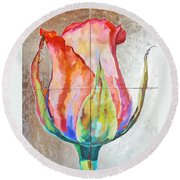 Graceful Love Round Beach Towel
