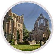 Graceful Ruins. Dryburgh Abbey. Round Beach Towel