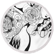 Gracefully Round Beach Towel