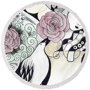 Gracefully - In Color Round Beach Towel