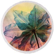 Round Beach Towel featuring the digital art Gracefulness by Klara Acel