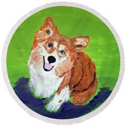 Gracie_dwp_may_2017 Round Beach Towel