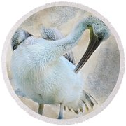 Graciously Pelican Round Beach Towel