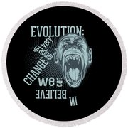 Round Beach Towel featuring the digital art Gradual Change  by Christopher Meade
