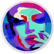 Round Beach Towel featuring the digital art Graduated With Flying Colors by Rafael Salazar