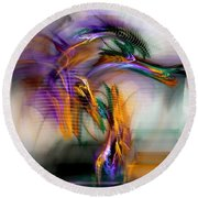Graffiti - Fractal Art Round Beach Towel