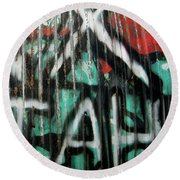 Graffiti Abstract 1 Round Beach Towel