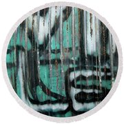 Round Beach Towel featuring the photograph Graffiti Abstract 2 by Jani Freimann