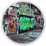 Graffiti Alley Round Beach Towel