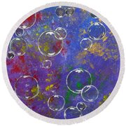 Graffiti Bubbles Round Beach Towel