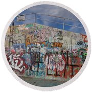 Graffiti Wall Round Beach Towel by Julia Wilcox