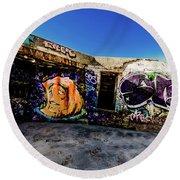 Graffiti_03 Round Beach Towel