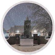 Graham Presbyterian Church Round Beach Towel by Benanne Stiens