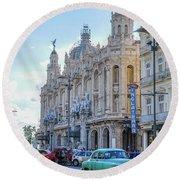 Gran Teatro De La Habana Round Beach Towel
