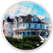 Gran Victorian Hotel Spring Lake Nj Round Beach Towel