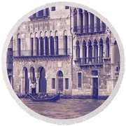 Grand Canal 2. Venice Italy Round Beach Towel