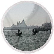 Grand Canal Round Beach Towel