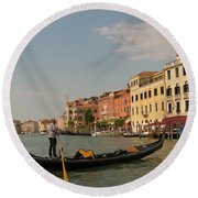 Grand Canal Gondola Round Beach Towel
