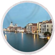 Grand Canal In Venice, Italy Round Beach Towel