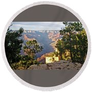 Grand Canyon No. 1 Round Beach Towel by Sandy Taylor