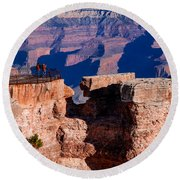 Round Beach Towel featuring the photograph Grand Canyon 16 by Donna Corless