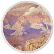 Grand Canyon, 1927  Round Beach Towel