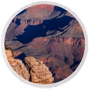 Round Beach Towel featuring the photograph Grand Canyon 21 by Donna Corless