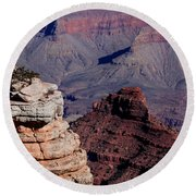 Round Beach Towel featuring the photograph Grand Canyon 3 by Donna Corless