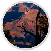 Round Beach Towel featuring the photograph Grand Canyon 30 by Donna Corless