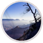 Round Beach Towel featuring the photograph Grand Canyon 33 by Donna Corless