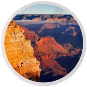 Round Beach Towel featuring the photograph Grand Canyon 35 by Donna Corless