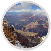 Grand Canyon Ab 3948 Round Beach Towel