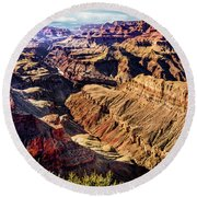 Grand Canyon Afternoon At Lipan Point Round Beach Towel