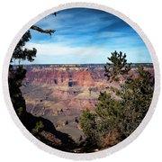 Grand Canyon, Arizona Usa Round Beach Towel by James Bethanis