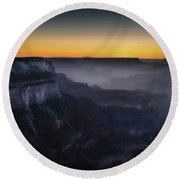 Grand Canyon At Twilight Round Beach Towel by RicardMN Photography