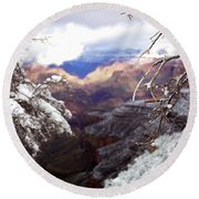 Grand Canyon Branch Round Beach Towel