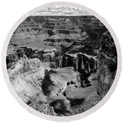 Grand Canyon Bw Round Beach Towel by RicardMN Photography