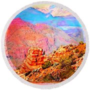 Grand Canyon By Nico Bielow Round Beach Towel