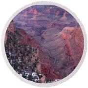 Grand Canyon Dusk 1 Round Beach Towel