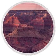 Grand Canyon Dusk 2 Round Beach Towel by Greg Nyquist